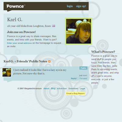 Pownce Page